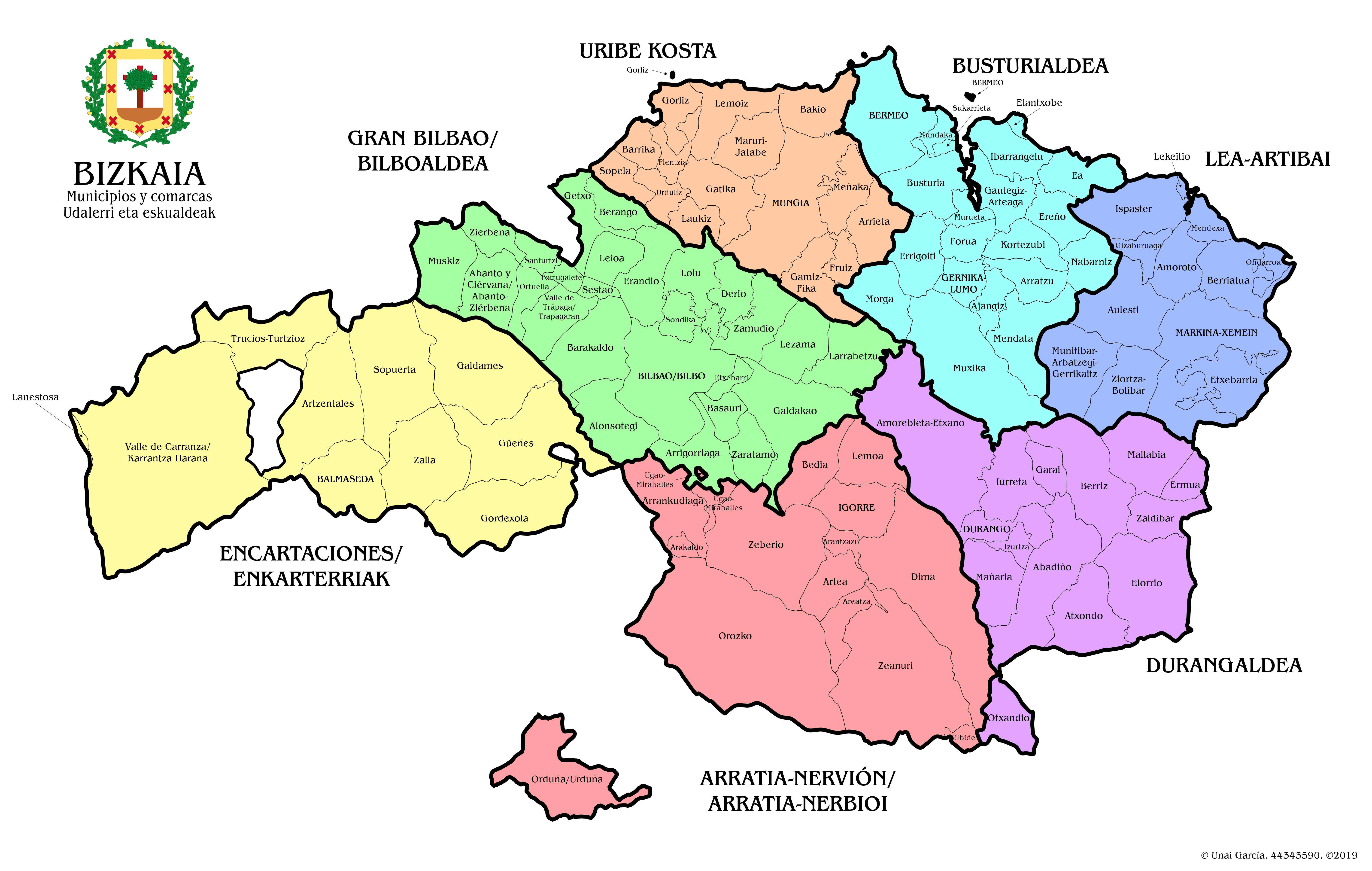 BIZKAIA_Mapa_Político_2019